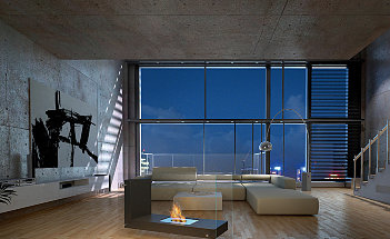 l-shape-bio-fireplace-in-living-room-loft-uni-wall-interior-design-picture