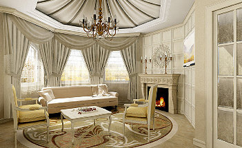 Luxury-Living-Room-Design-With-Fireplace-In-The-Room