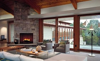 Contemporary-Living-Room-with-Fireplace