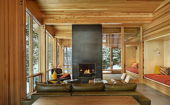 Wenatchee-Lake-Living-Room-Interior-Design-with-Fireplace-by-DeForest-Architect-in-Washington